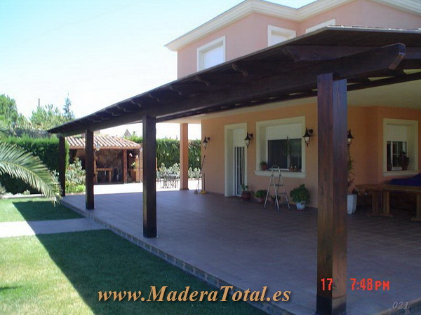 pergolas y porches madera madrid